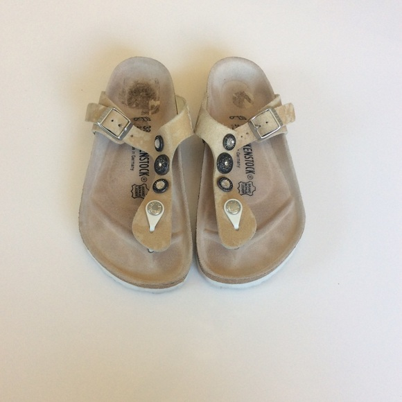 5bce66029bd0 Birkenstock Shoes - Birkenstock Gizeh Suede Studs Sz EU 38 US 7